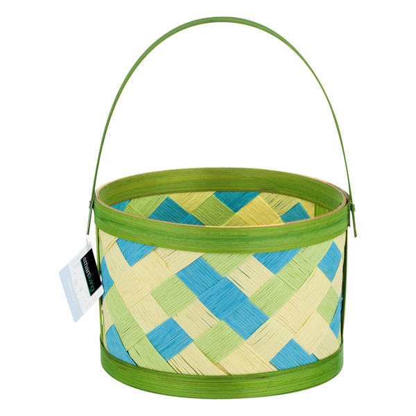 Smart Living Bamboo Basket Easter Green Small