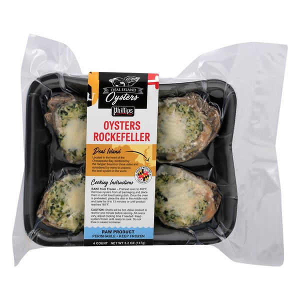 Phillips Deal Island Oysters Rockefeller Frozen - 4 ct