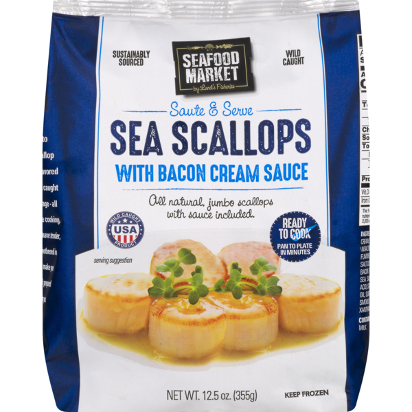 Seafood Market Sea Scallops with Bacon Cream Sauce