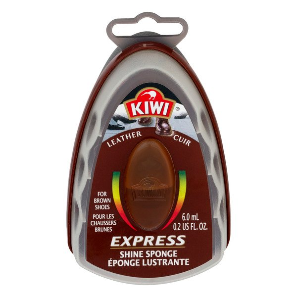 Kiwi Leather Cuir Express Shine Sponge Brown