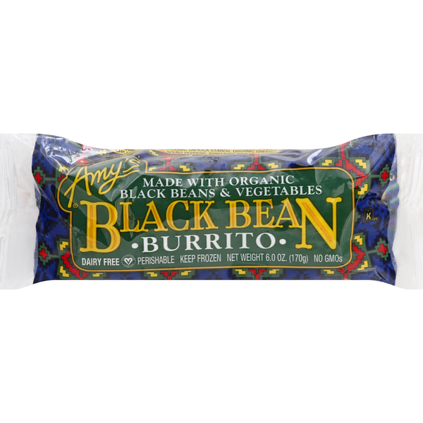 Amy's Burrito Black Bean Organic