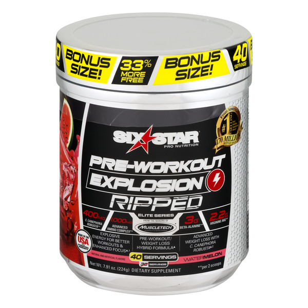 Six Star Pre-Workout Explosion Ripped Watermelon