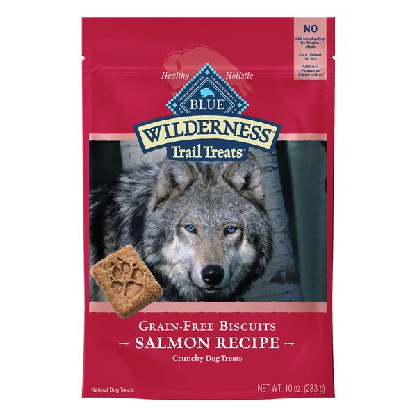 BLUE Buffalo Dog Treats Crunchy Grain-Free Biscuits Salmon Recipe Natural