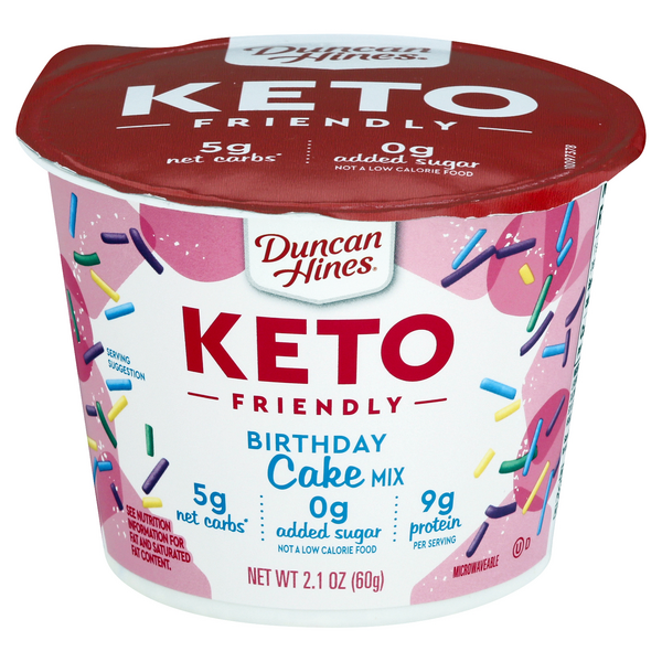 Duncan Hines Keto Friendly Birthday Cake Mix Microwavable