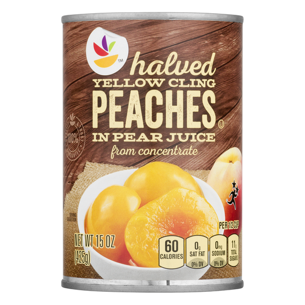 MARTIN'S Peach Halves Yellow Cling in Pear Juice