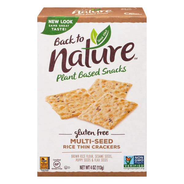 Back to Nature Rice Thin Crackers Multi-Seed Gluten Free
