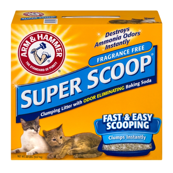 Arm & Hammer Super Scoop Clumping Cat Litter Fragrance Free