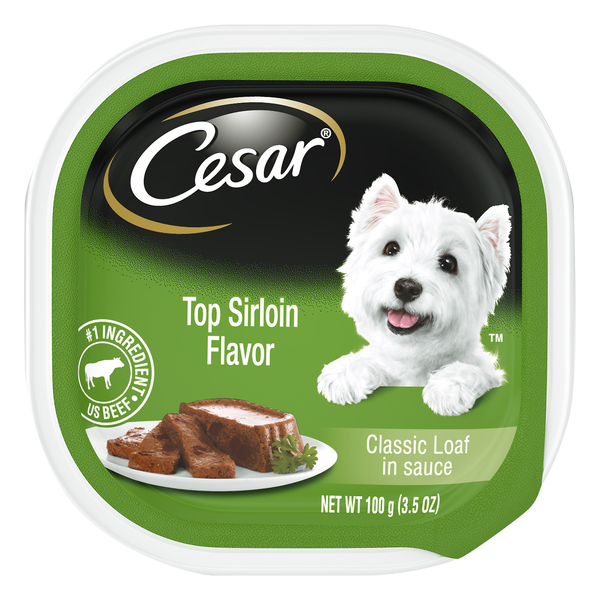 Cesar Classic Loaf in Sauce Dog Food Top Sirloin Flavor