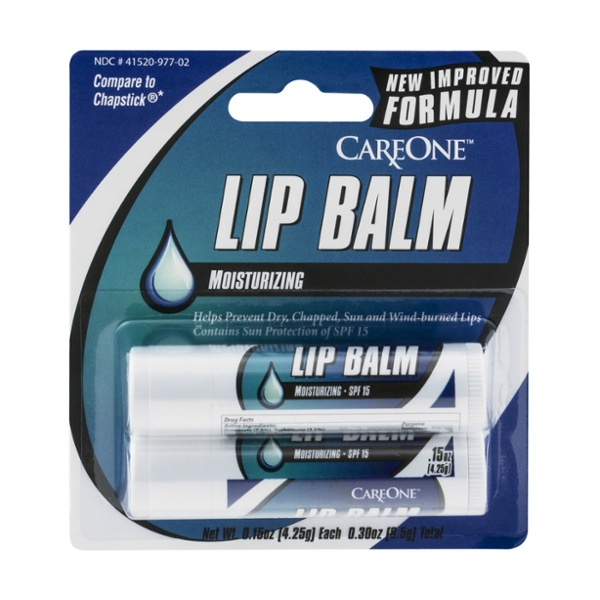 CareOne Lip Balm Moisturizing - 2 ct