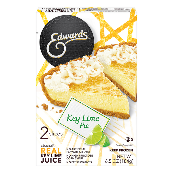 Edwards Pie Key Lime Singles - 2 slices Thaw & Serve Frozen