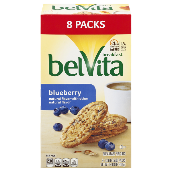 belVita Breakfast Biscuits Blueberry - 8 ct