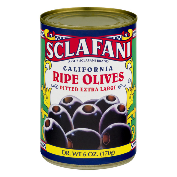 Sclafani Black Olives Extra Large Pitted