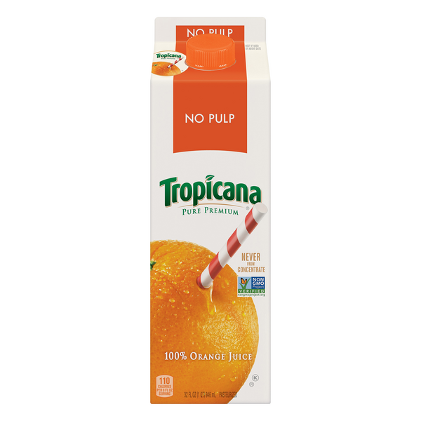 Tropicana Pure Premium 100% Orange Juice No Pulp