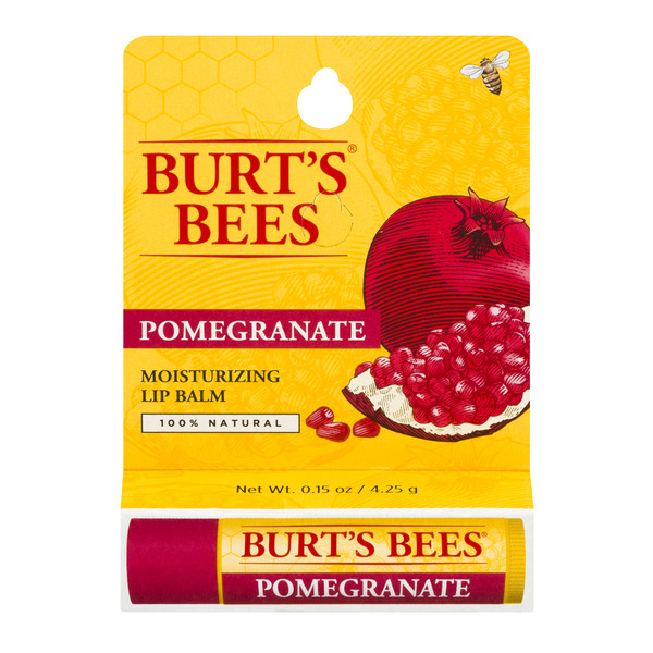 Burt's Bees Lip Balm Moisturizing with Pomegranate Oil 100% Natural