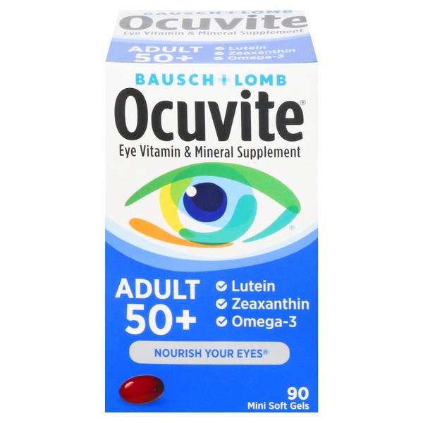 Bausch + Lomb Ocuvite Adult 50 Eye Vitamin & Mineral Supplement Softgels