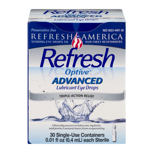 Refresh Optive Advanced Lubricant Eye Drops Triple-Action Relief