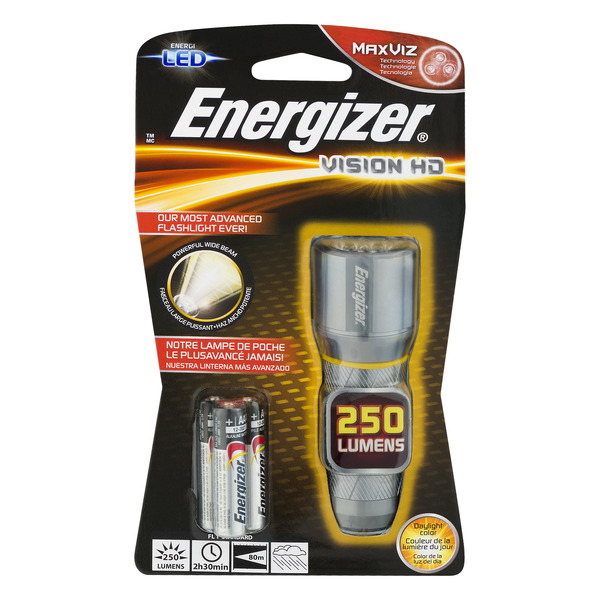 Energizer Vision HD Flashlight 250 Lumens