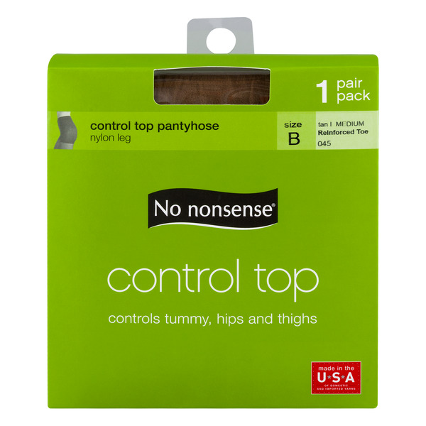 No Nonsense Control Top Pantyhose Tan Size B