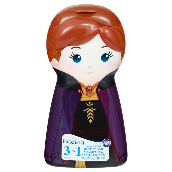 Disney Frozen II 3-in-1 Body Wash Shampoo & Conditioner Berry Scented
