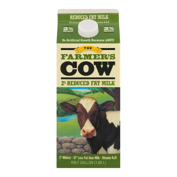 The Farmer's Cow 2% Reduced Fat Milk