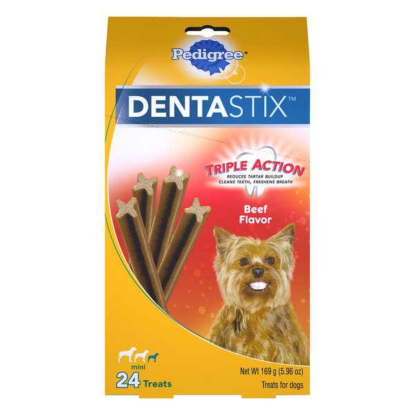 Pedigree Dentastix Mini Treats for Toy/Small Dogs Beef Flavor- 24 ct