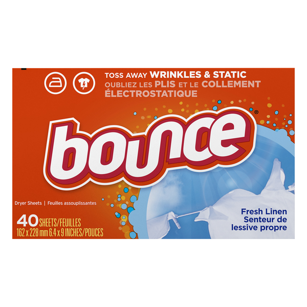 Bounce Fabric Softener Sheets Fresh Linen