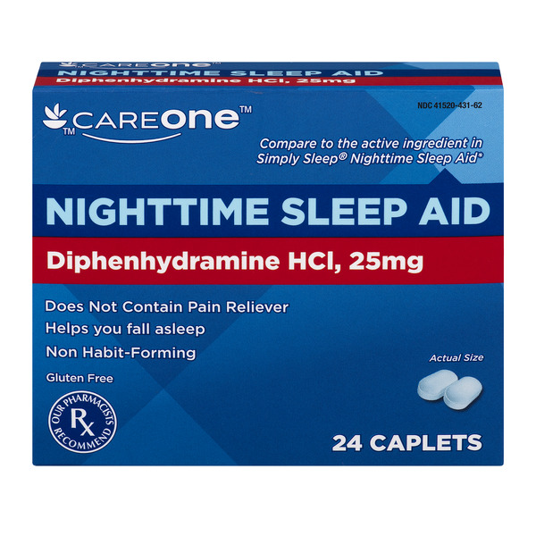 CareOne Nighttime Sleep Aid Mini Caplets