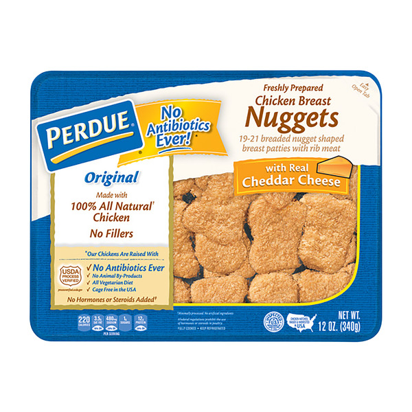Perdue Breaded Chicken Breast Nuggets with Cheddar Cheese