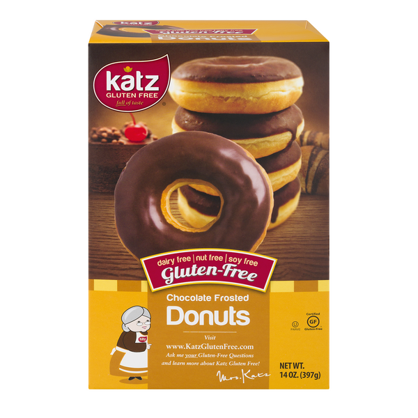 Katz Chocolate Frosted Donuts Gluten Free Frozen