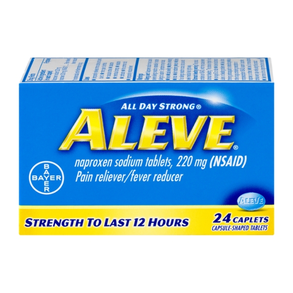 Aleve Naproxen Sodium Pain Relief 220 mg Caplets