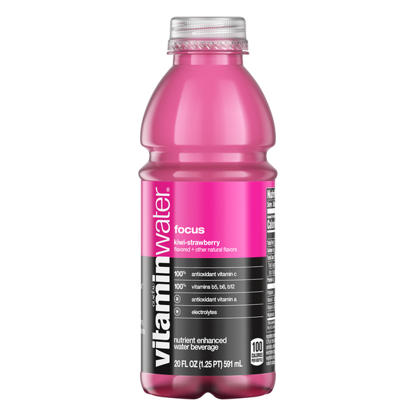 Glaceau Vitaminwater Focus Kiwi Strawberry Enhanced Water Beverage