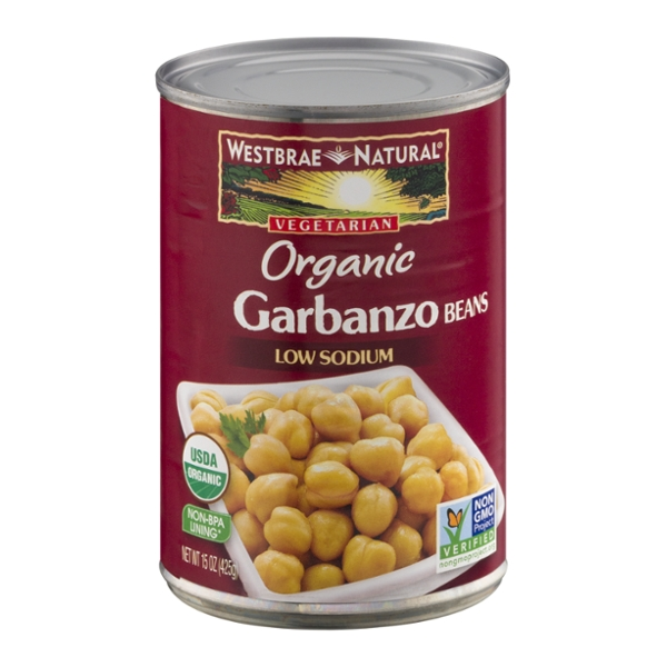 Westbrae Natural Garbanzo Beans Vegetarian Low Sodium Organic