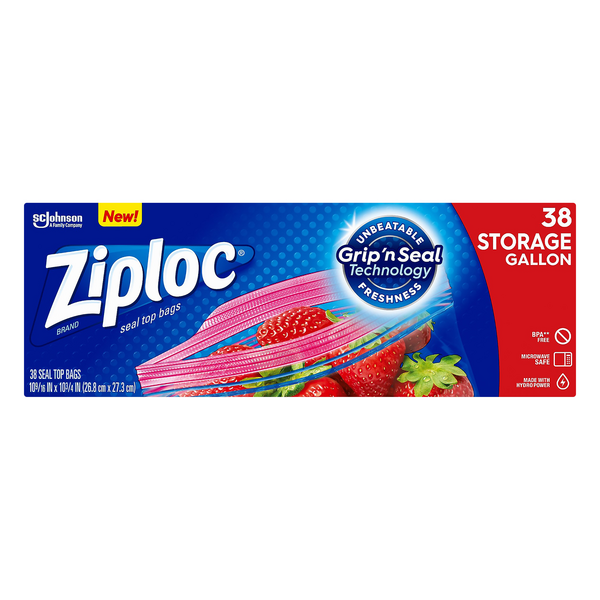 Ziploc Food Storage Bags Double Zipper Gallon