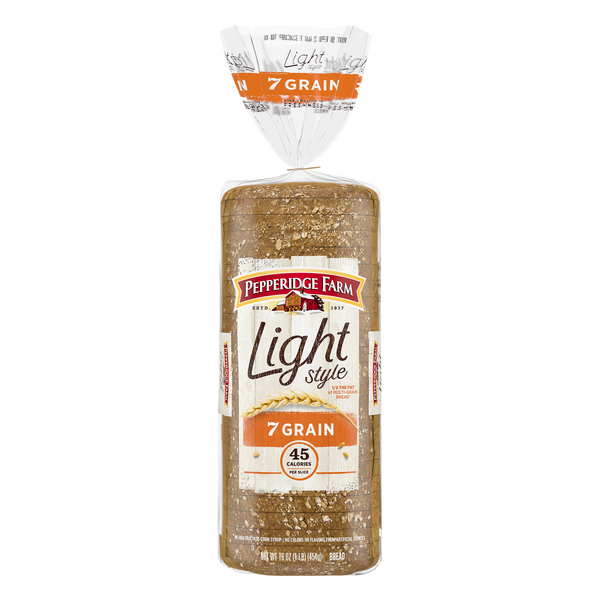 Pepperidge Farm Light Style 7 Grain Bread 45 Calories