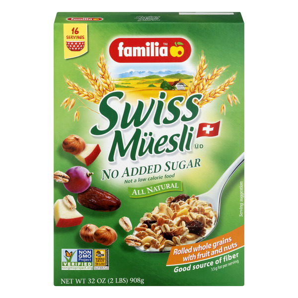 Familia Swiss Muesli Cereal with Fruit & Nuts No Added Sugar