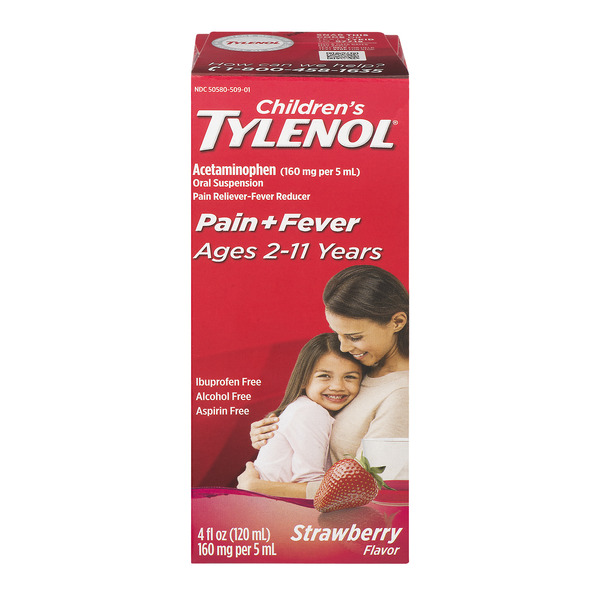 Children's Tylenol Pain + Fever Liquid Strawberry Flavor