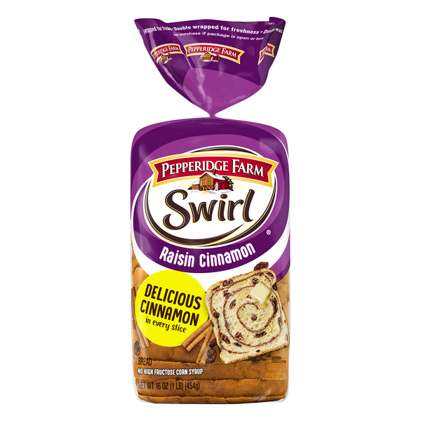 Pepperidge Farm Bread Raisin Cinnamon Swirl