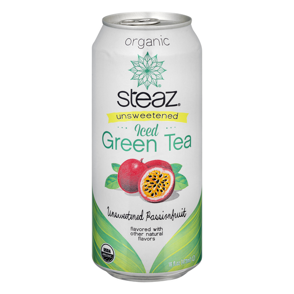 Steaz Iced Unsweetened Passionfruit Green Tea Organic