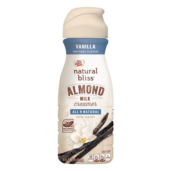 Nestle Coffee-mate Natural Bliss Almond Milk Coffee Creamer Vanilla