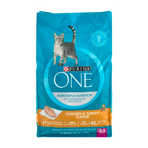 Purina ONE Purposeful Nutrition Dry Cat Food Chicken & Turkey Flavor
