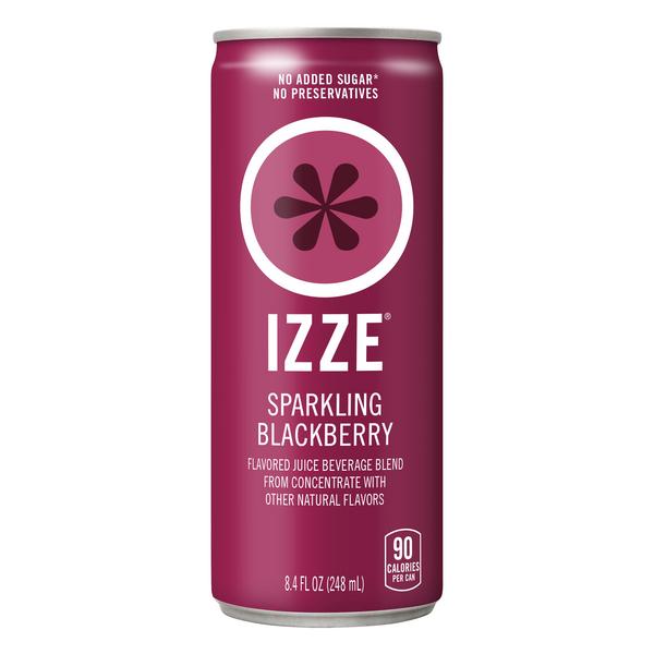 IZZE Sparkling Blackberry Juice Beverage All Natural