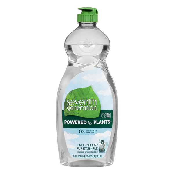 Seventh Generation Powered by Plants Dish Liquid Free & Clear
