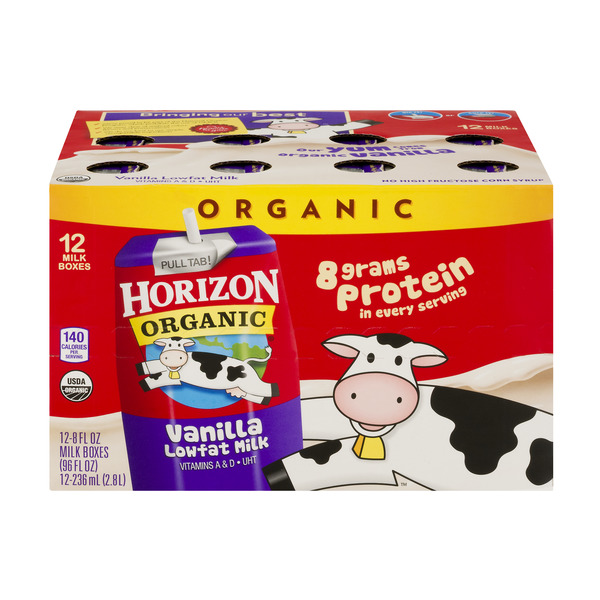 Horizon Organic Low Fat Vanilla Milk - 12 pk Unrefrigerated