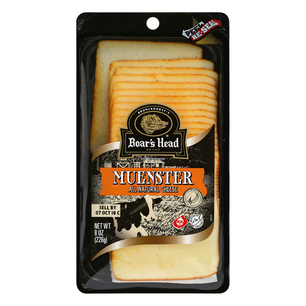 Boar's Head Muenster Cheese All Natural (Pre-Sliced)