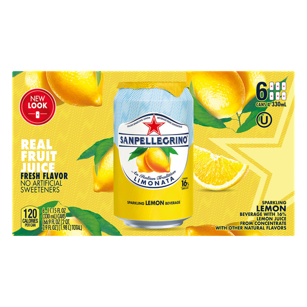 San Pellegrino Limonata Sparkling Lemon Beverage All Natural - 6 pk