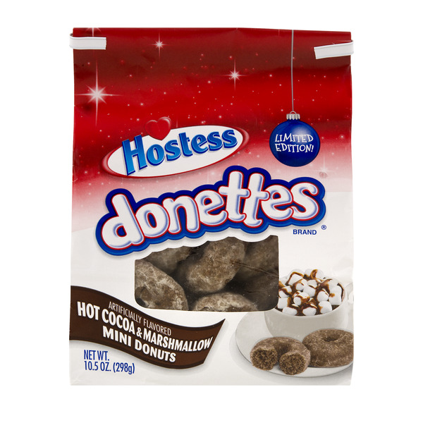 Hostess Donettes Mini Donuts Hot Cocoa & Marshmallow Limited Edition