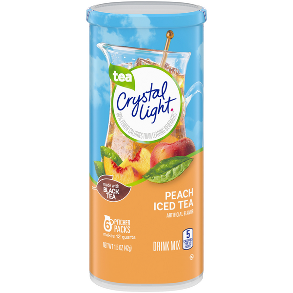 Crystal Light Powered Drink Mix Iced Tea Peach - 6 ct