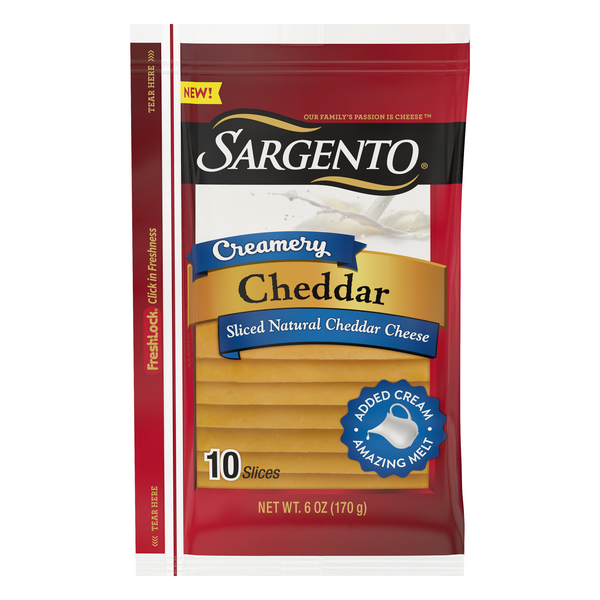Sargento Cheddar Cheese Sliced - 10 ct