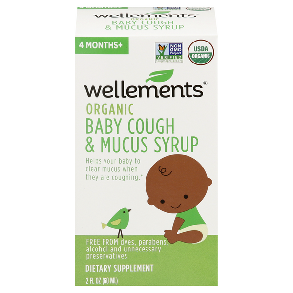 Wellements Baby Couh & Mucus Syrup Organic 4 months+