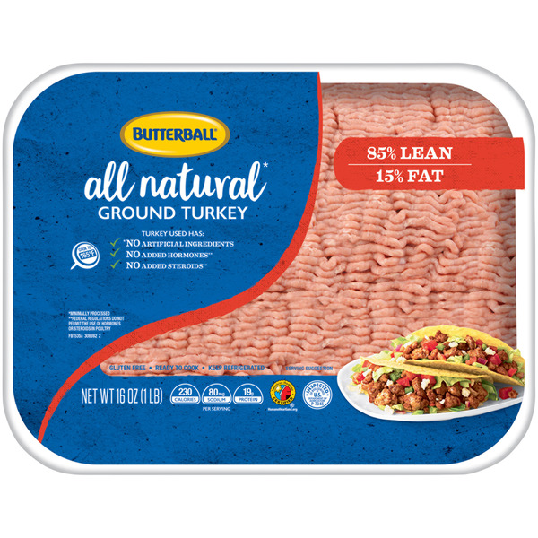 Butterball Ground Turkey 85% Lean All Natural